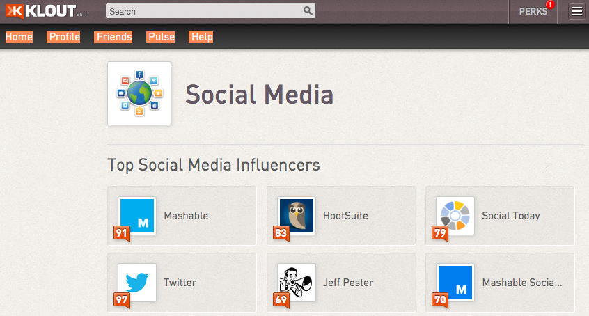 Finding Influencers on Klout